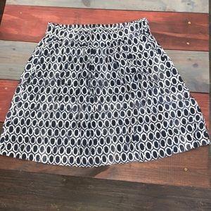 3 FOR $20 LOFT Lightweight Navy & White Skirt XS